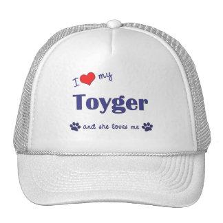 I Love My Toyger (Female Cat) Mesh Hat