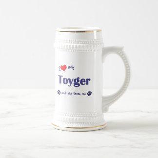 I Love My Toyger (Female Cat) Coffee Mugs