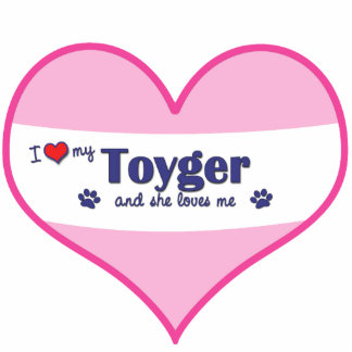 I Love My Toyger (Female Cat) Photo Sculpture Ornament