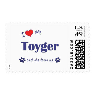 I Love My Toyger (Female Cat) Stamps