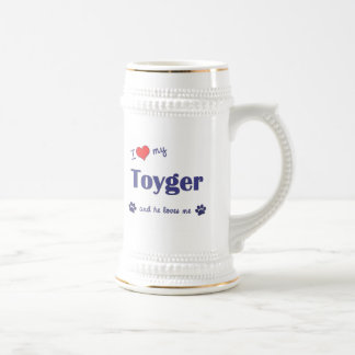 I Love My Toyger (Male Cat) Mugs