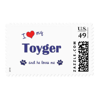 I Love My Toyger (Male Cat) Stamp