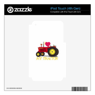 I Love My Tractor iPod Touch 4G Skin