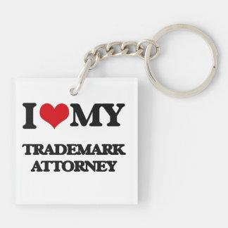 I love my Trademark Attorney Square Acrylic Keychain