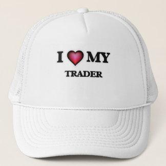 I love my Trader Trucker Hat