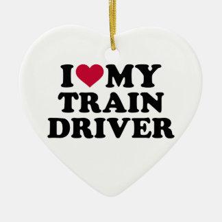 I love my train driver ceramic ornament