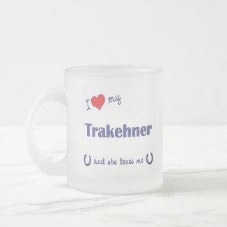 I Love My Trakehner (Female Horse) Frosted Glass Coffee Mug