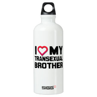 I LOVE MY TRANSEXUAL BROTHER SIGG TRAVELER 0.6L WATER BOTTLE