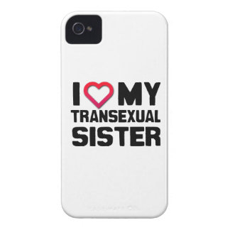 I LOVE MY TRANSEXUAL SISTER iPhone 4 COVERS