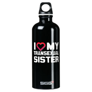 I LOVE MY TRANSEXUAL SISTER SIGG TRAVELER 0.6L WATER BOTTLE