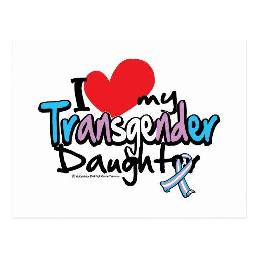 I Love My Transgender Daughter Postcard