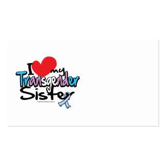 I Love My Transgender Sister Business Card Templates