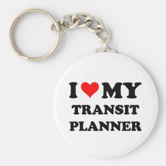 I Love My Transit Planner Keychain