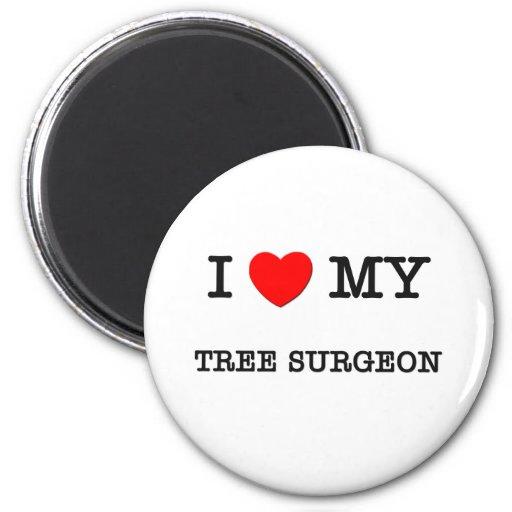 I Love My TREE SURGEON 2 Inch Round Magnet