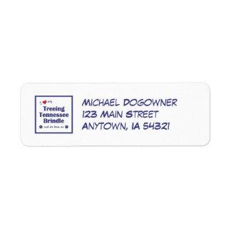 I Love My Treeing Tennessee Brindle (Female Dog) Return Address Label