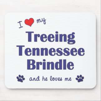 I Love My Treeing Tennessee Brindle (Male Dog) Mouse Pad