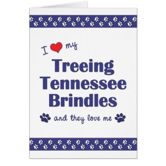 I Love My Treeing Tennessee Brindles (Multi Dogs) Card