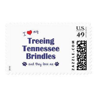 I Love My Treeing Tennessee Brindles (Multi Dogs) Postage