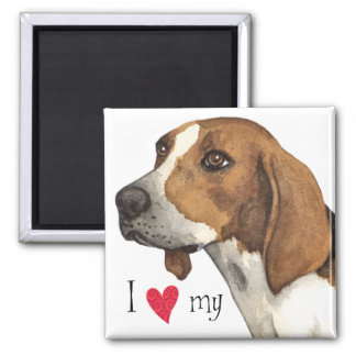 I Love my Treeing Walker 2 Inch Square Magnet