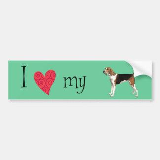 I Love my Treeing Walker Bumper Sticker