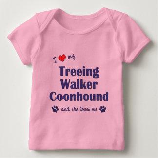 I Love My Treeing Walker Coonhound (Female Dog) Baby T-Shirt