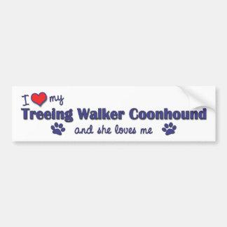 I Love My Treeing Walker Coonhound (Female Dog) Bumper Sticker
