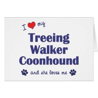 I Love My Treeing Walker Coonhound (Female Dog) Card