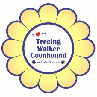 I Love My Treeing Walker Coonhound (Female Dog) Statuette