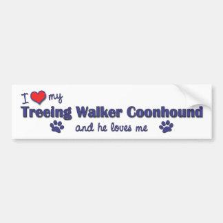 I Love My Treeing Walker Coonhound (Male Dog) Bumper Sticker