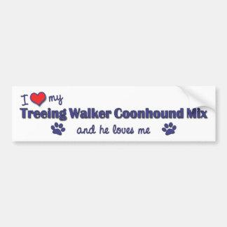 I Love My Treeing Walker Coonhound Mix (Male Dog) Bumper Sticker