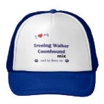 I Love My Treeing Walker Coonhound Mix (Male Dog) Mesh Hats