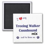 I Love My Treeing Walker Coonhound Mix (Male Dog) Refrigerator Magnet