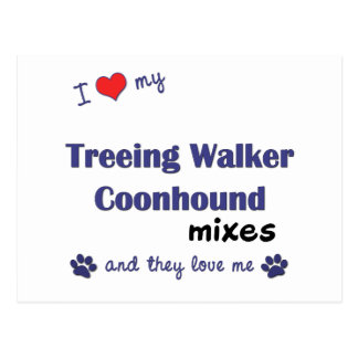 I Love My Treeing Walker Coonhound Mixes (Multi) Postcard