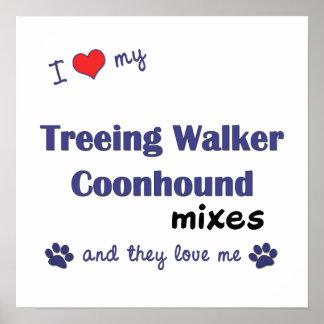 I Love My Treeing Walker Coonhound Mixes Poster