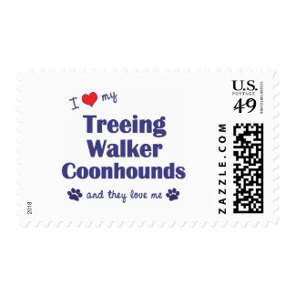 I Love My Treeing Walker Coonhound (Multiple Dogs) Stamp