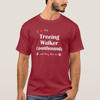 I Love My Treeing Walker Coonhound (Multiple Dogs) T-Shirt