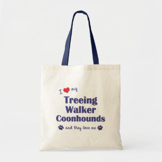 I Love My Treeing Walker Coonhound (Multiple Dogs) Tote Bag
