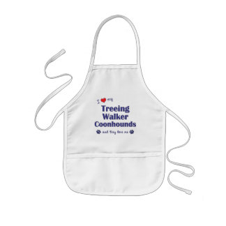 I Love My Treeing Walker Coonhounds (Multi Dogs) Kids' Apron