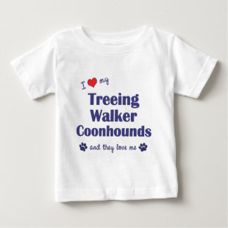 I Love My Treeing Walker Coonhounds (Multi Dogs) Baby T-Shirt
