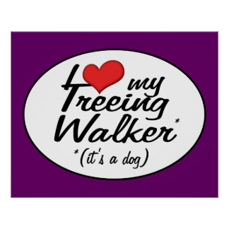 I Love My Treeing Walker (It's a Dog) Posters
