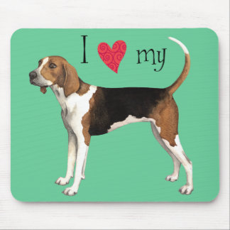 I Love my Treeing Walker Mouse Pad