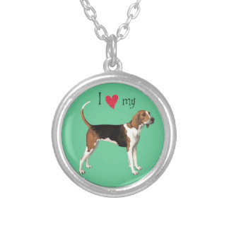 I Love my Treeing Walker Silver Plated Necklace