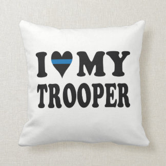 I LOVE MY TROOPER! THROW PILLOW