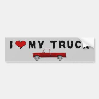 I Love My Truck Car Bumper Sticker