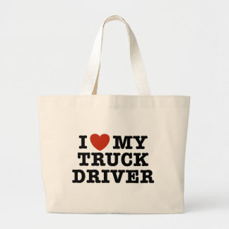 I Love My Truck Driver Large Tote Bag