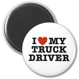 I Love My Truck Driver Refrigerator Magnet