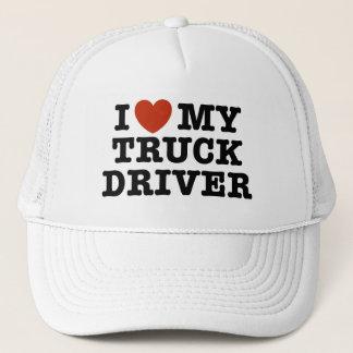I Love My Truck Driver Trucker Hat
