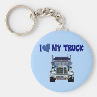 I Love My Truck Keychain