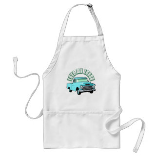 I love my truck - Old, classic blue pickup Adult Apron