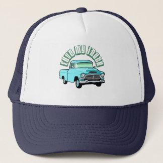 I love my truck - Old, classic blue pickup Trucker Hat